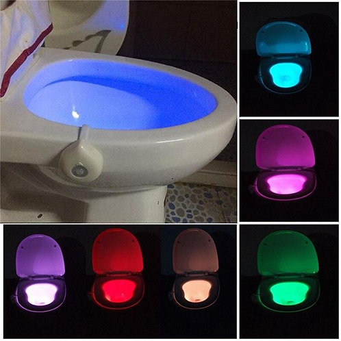 16-Color Motion Activated Toilet Light Night Toilet Light LED Light Changing
