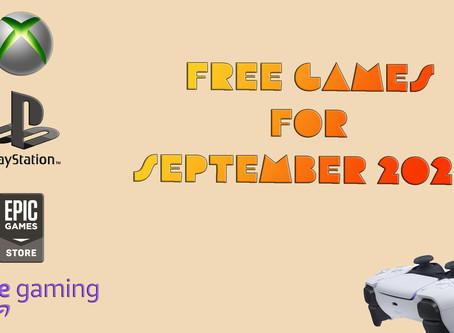 Free Games for September 2020