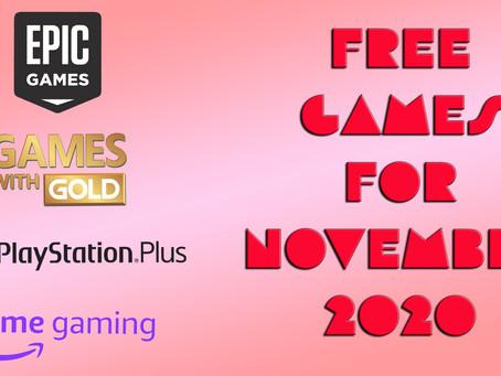 Free Games for November 2020