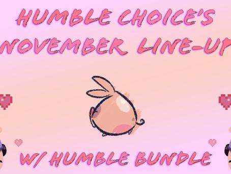 Humble Bundle's November Line-Up