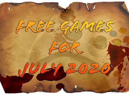 Free Games for July 2020
