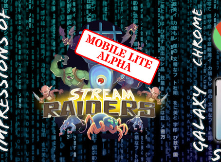 A look at the Stream Raiders Mobile Lite app (v 0.1.1)