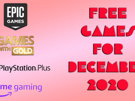 Free Games for December 2020