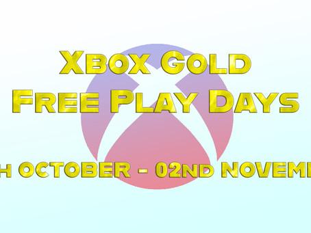 Xbox Gold Free Play Days (29th October - 02nd November)