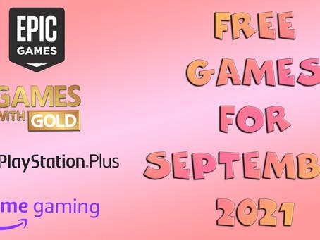 Free Games for September 2021