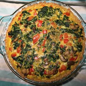 Quinoa Crusted Healthy Quiche