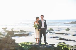 flowersbyazalea_wedding_romantic_white_green_bohemiam_bride_bouquet_whimsical_lace_Beach_Elopement