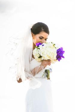 flowersbyazalea_Bride_bouquet_white_purple_Romantic