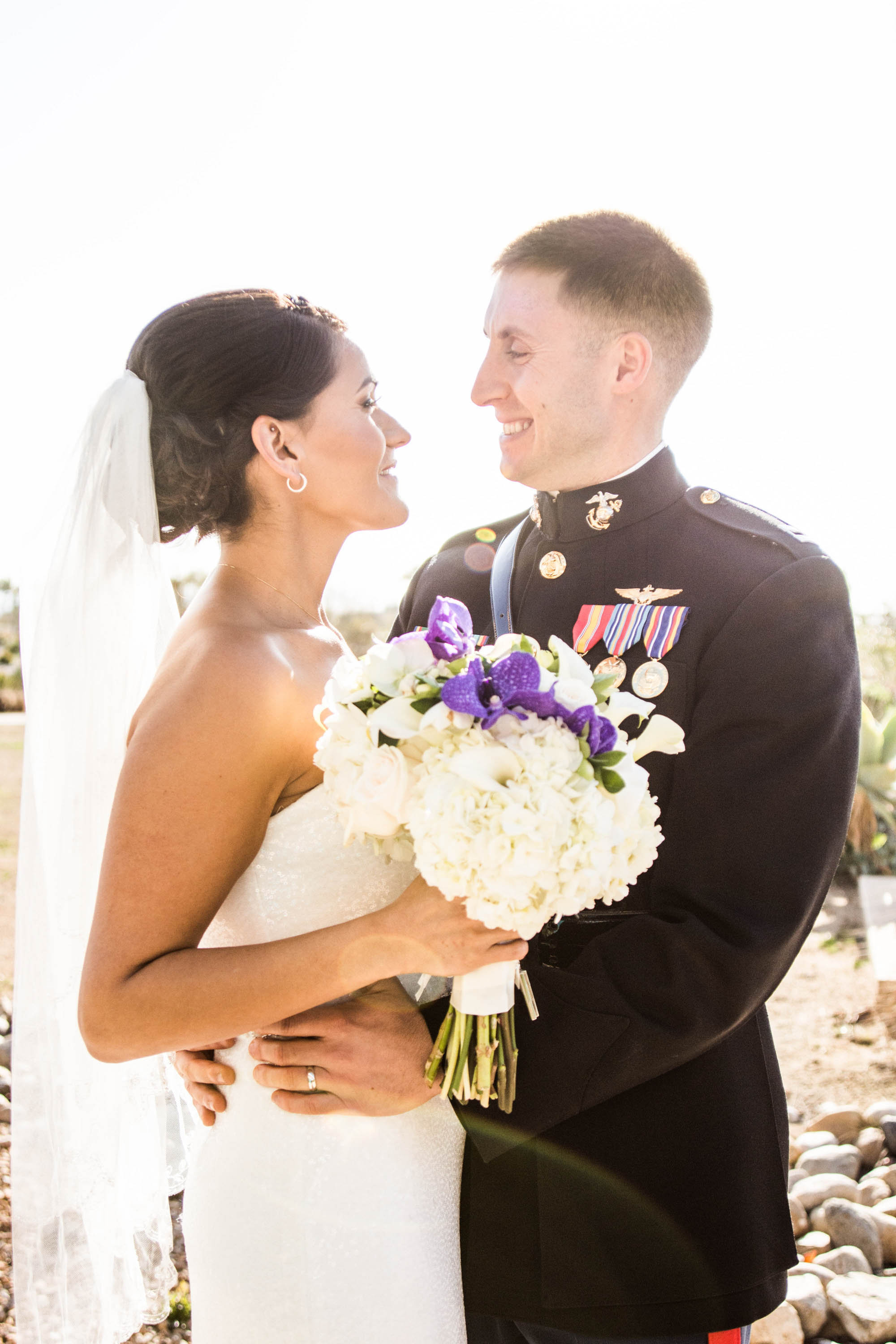 flowersbyazalea_Bride_bouquet_white_purple_Romantic_Military_Wedding