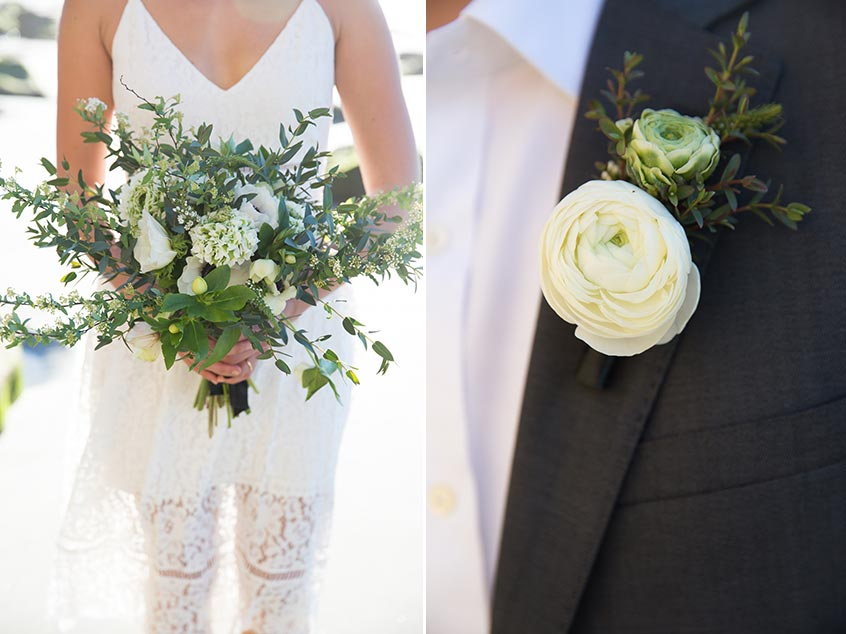 flowersbyazalea_wedding_romantic_white_green_bohemiam_bride_bouquet_whimsical_lace_Beach