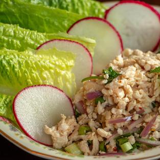 Larb Lettuce Wraps $9