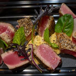 Seared Black Pepper Tuna $9