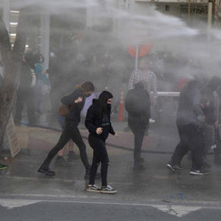 CYPRUS - Police violence against demonstration against assembly bans