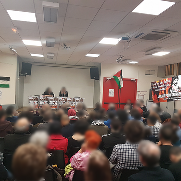 FRANCE - 150 people at meeting supporting Georges Abdallah!