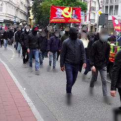 GERMANY - successful demonstration against surveillance and repression