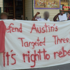 "AUSTRIA - Various actions defending ""Austin's Targeted Three"""