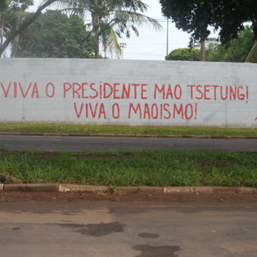 BRAZIL - Many graffities on the 127th birthday of Mao Zedong