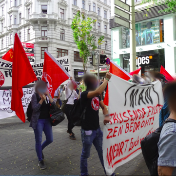 "AUSTRIA - ""We are not paying for your crisis!"" - lively demonstration"
