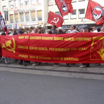 GERMANY - Action for Comrade Ernesto Sernas