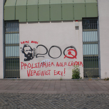 """GERMANY - Numerous actions for an international event on """"200 years Karl Marx"""""""