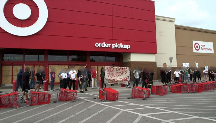 The Target Protest that has caused authorities to single out protesters.