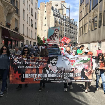 FRANCE - A letter form Georges Ibrahim to the Demonstrators