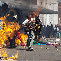 ZIMBABWE - Mass protests against the President and unemployment