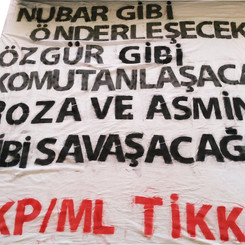 "TURKEY - ""Bomb banner"" from the TKP/ML in Istanbul"