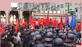 "GERMANY - Police attack on the annual ""LLL"" demonstration"
