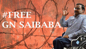INDIA - G.N. Saibaba on  Hunger Strike