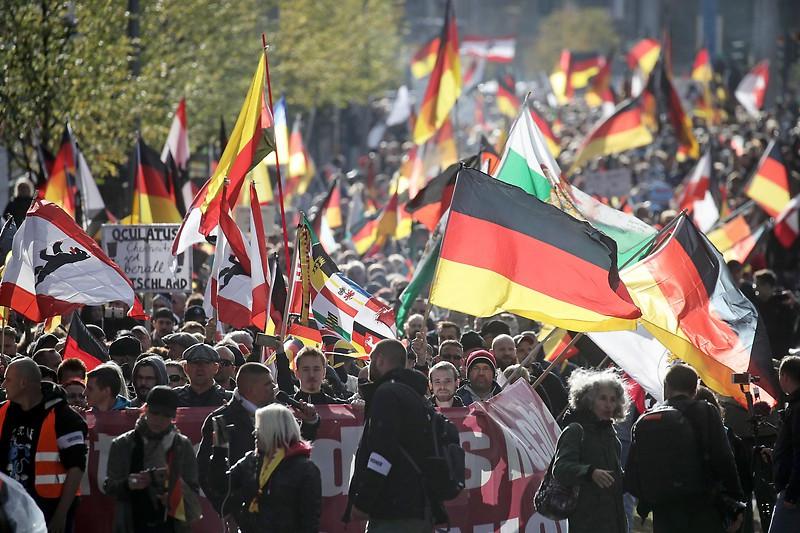Berlin 3.10.2018: Fascistic demonstration