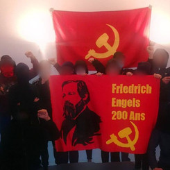 FRANCE - Strong action for the 200th birthday of Friedrich Engels