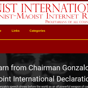 "INTERNATIONAL - New Website in English and Spanish ""Communist International"""