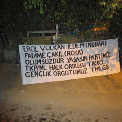 TURKEY - Action in memory of the fallen comrades