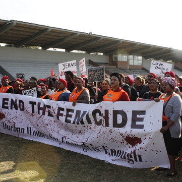 SOUTH AFRICA - Women struggle against violence against women
