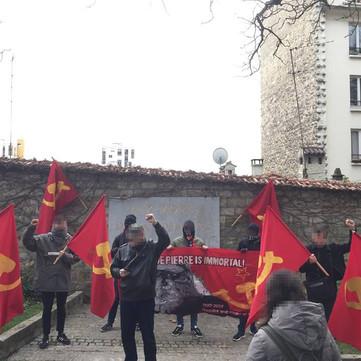 FRANCE - Manifestation commemorating comrade Pierre