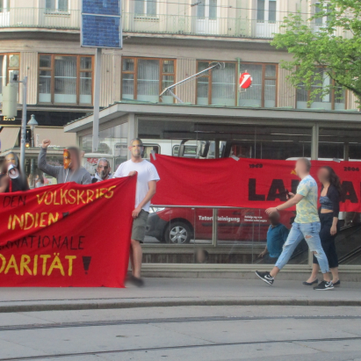 Austria - Numerous actions in support of the people's war in India