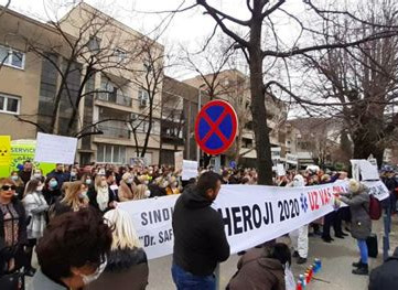 BOSNIA AND HERZEGOVINA - Health workers justified protest amid pandemic