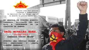 MEXICO - In memory of Comrade Saúl Morales Hernández