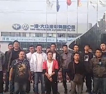 CHINA - VW-workers in struggle