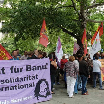 GERMANY - Protest in support of the re-arrested defendants of the TKP/ML process