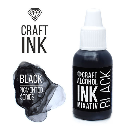 Craft Alcohol INK, Black, 20 ml