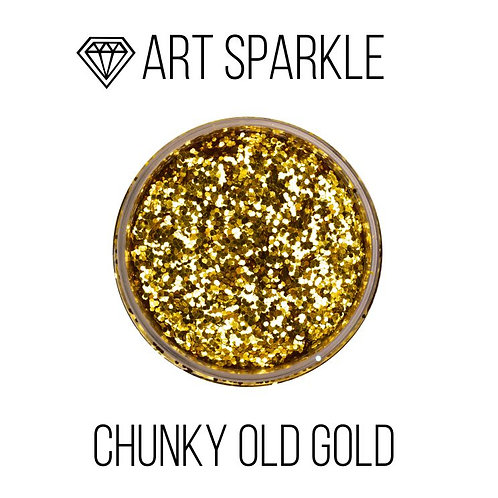 Large glitter Chunky Old Gold, 50g