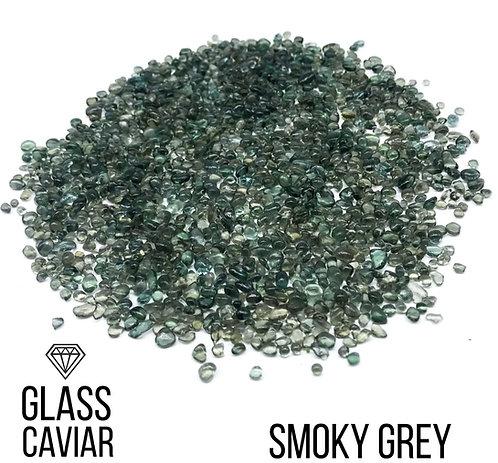 Стеклянная крошка Glass Caviar, Smoky Grey, 250гр