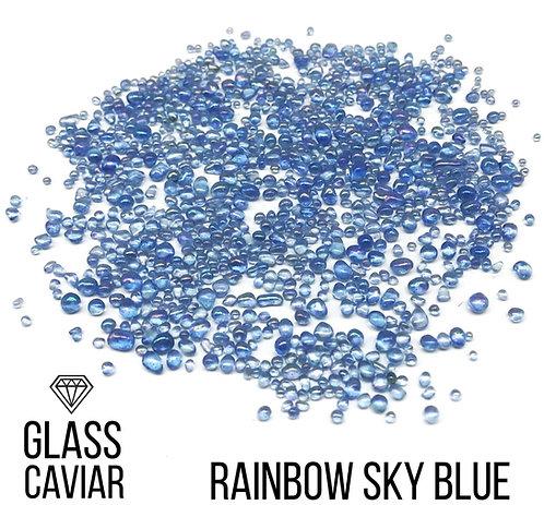 Стеклянная крошка Glass Caviar, Rainbow Sky blue, 250гр