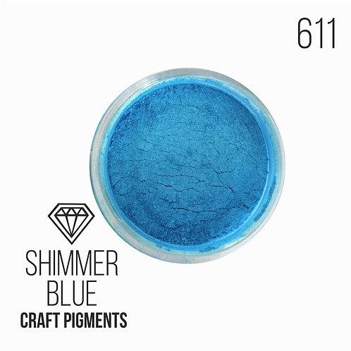 "CraftPigments ""Shimmer blue"", искристый голубой, 25мл"