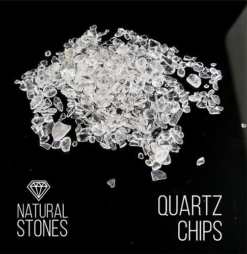 Натуральный кварц мелкий Quartz Chips, 3-5мм, 100гр
