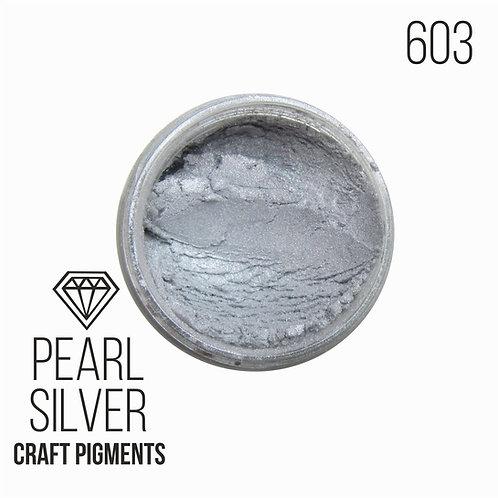 "CraftPigments ""Pearl Silver"", Cеребристый жемчуг, 25мл"