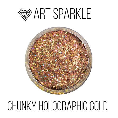 Глиттер крупный  Chunky Holographic Gold, 50гр
