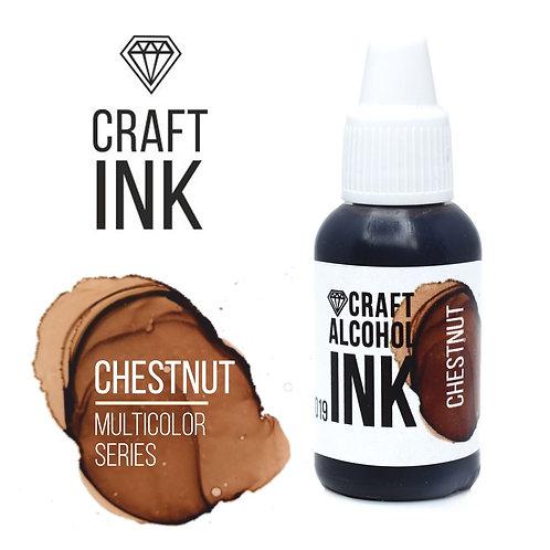 Спиртовые  чернила  Craft  INK, Chestnut (Каштан), 20мл